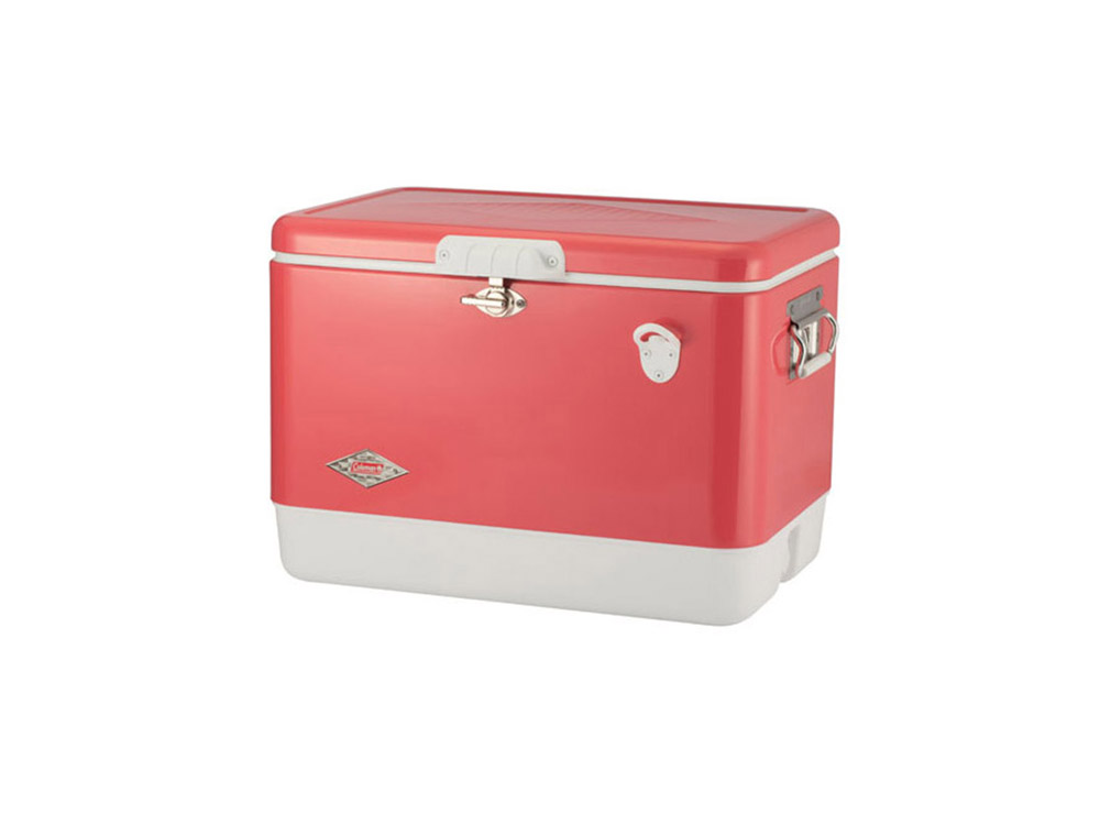 콜맨 54QT 60주년 스틸 벨트 쿨러(스트로베리)(3000004166)/COLEMAN 54QT 60TH ANNIVERSARY STEEL BELTED COOLER(STRAWBERRY)_CB1C0047A